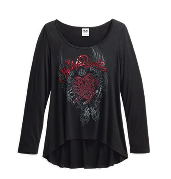 Graphic Scoop Neck Tee - 96289-16VW   Abbigliamento donna
